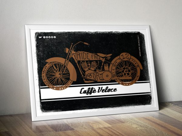 Poster Bike - Poster Caffè Veloce